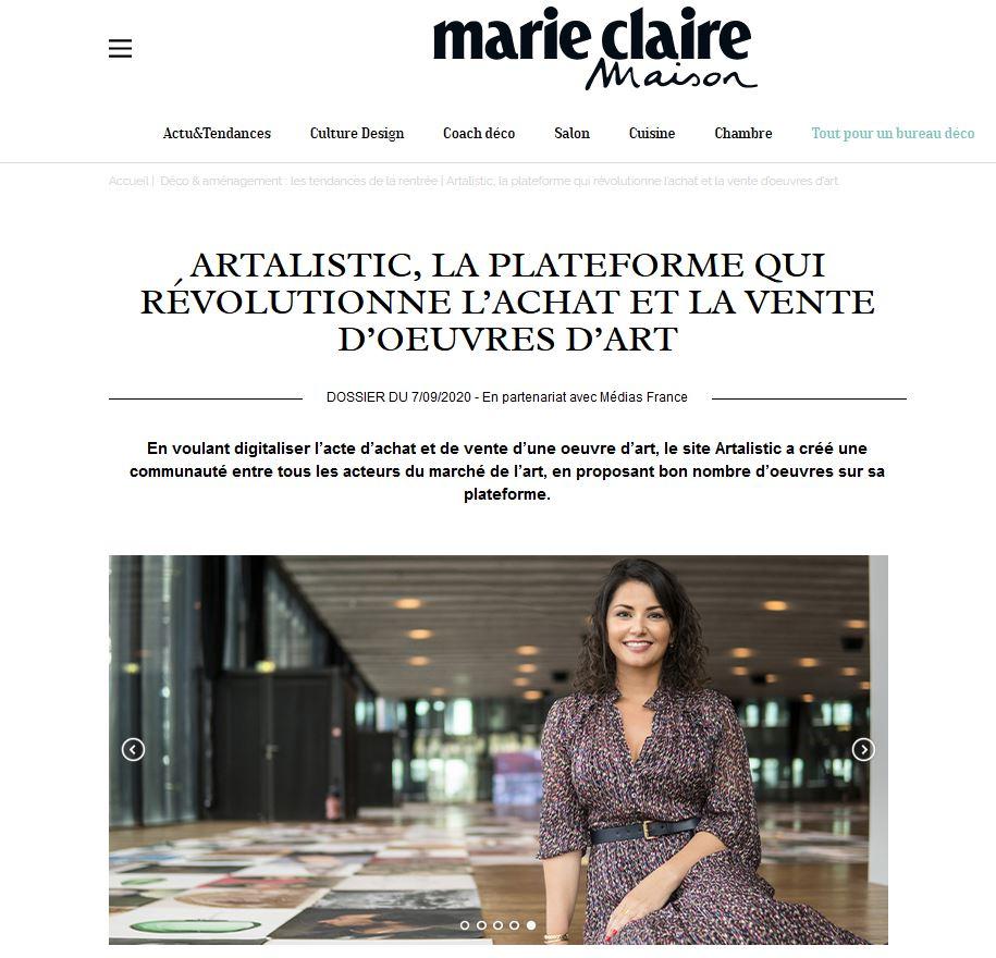 Artalistic in french magazine Marie Claire