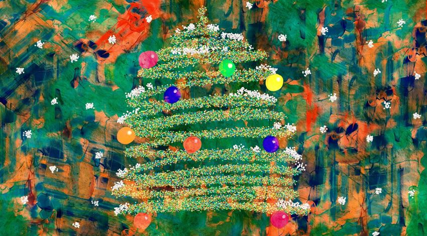 Gifting art fort Christmas