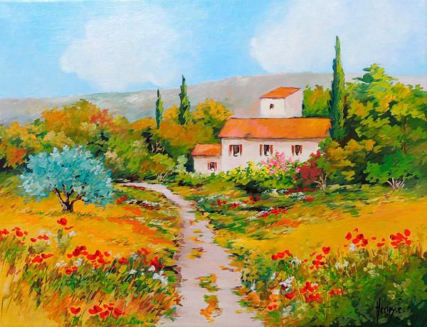 Provence, Mas dans le Lubéron