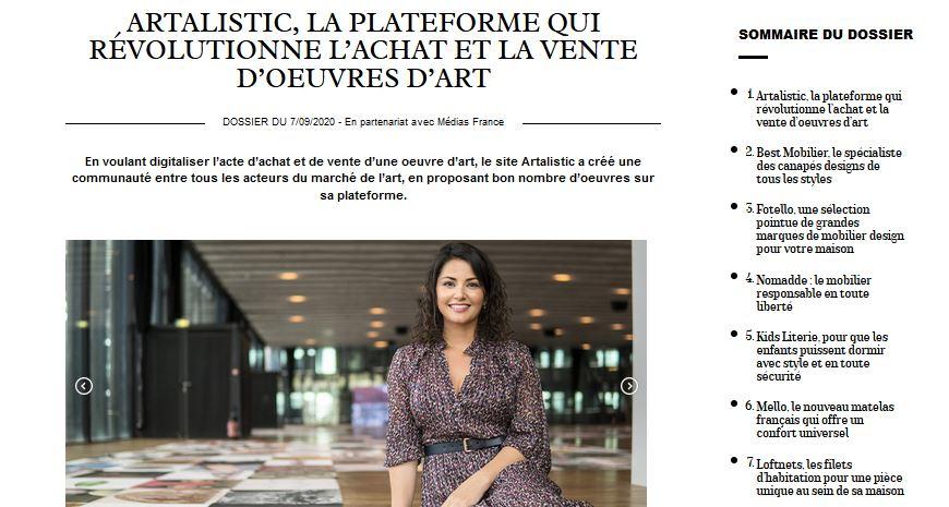 Artalistic dans le magazine Marie Claire