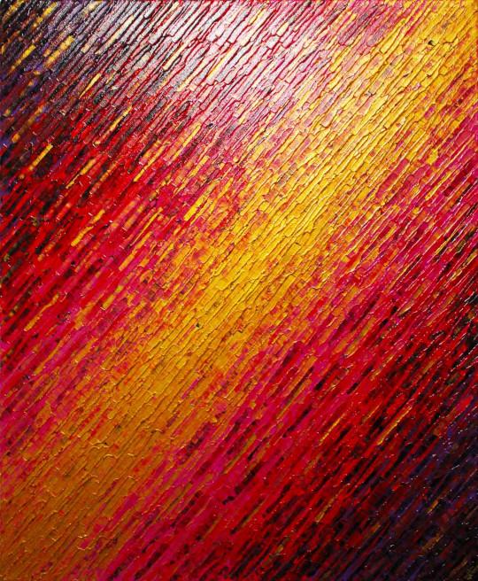 Texture couteau doré rose rouge violette
