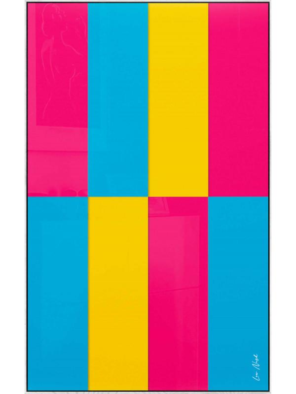 Abstraction en couleur par soustraction No.1 - Symphonie de couleurs I.