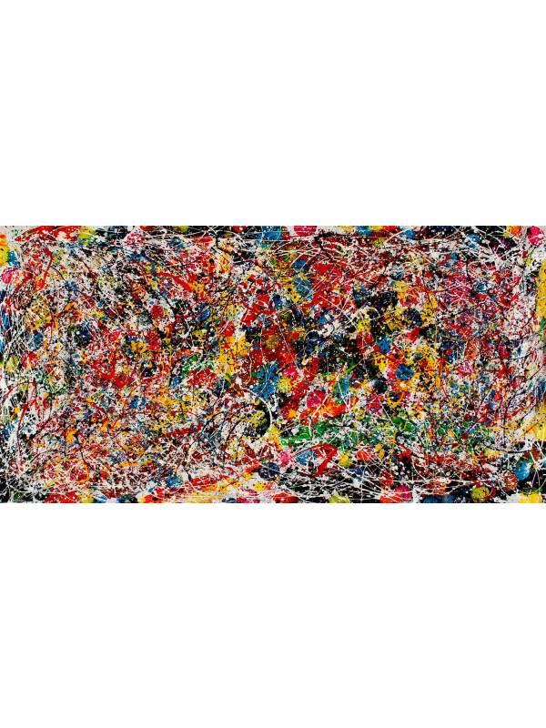 Flowers of Beautiful Color Tribute Jackson Pollock