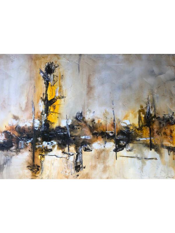 Abstraction jaune