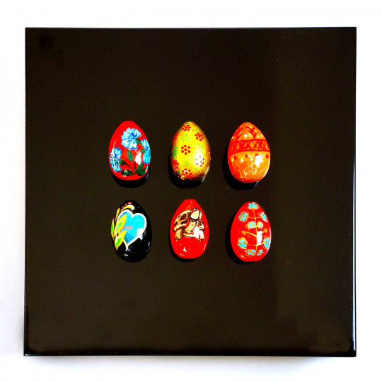 6 œufs, noir N°7