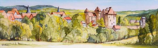Paysage de Corrèze Curemonte