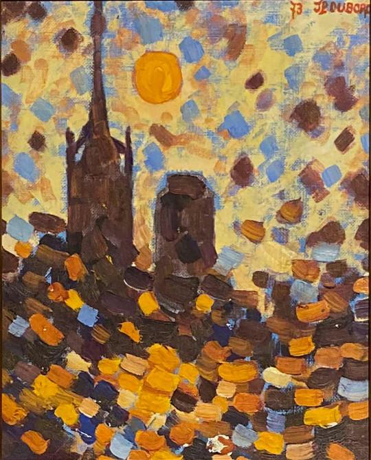 Effets de soleil sur la cathédrale de Rouen