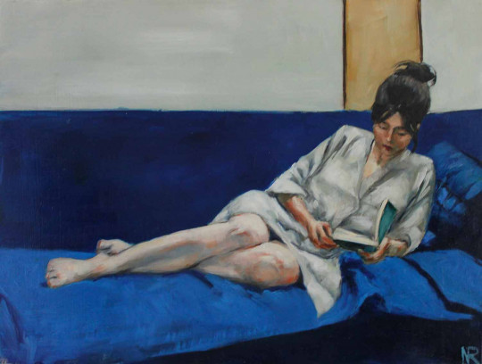 Lectrice au kimono