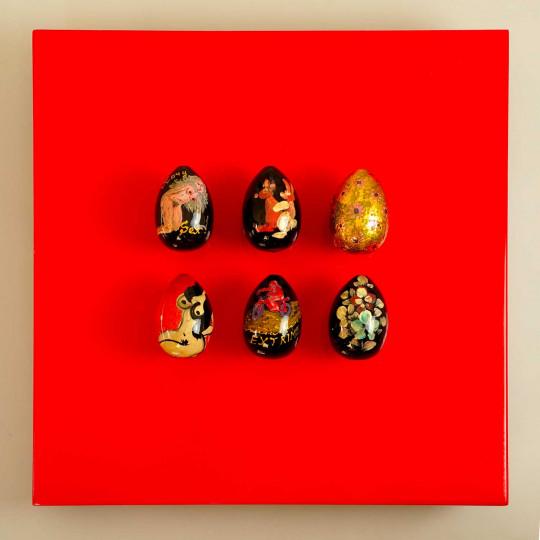 6 œufs, rouges N°2