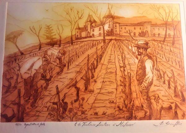 H.de Toulouse Lautrec  au Château de Malromé