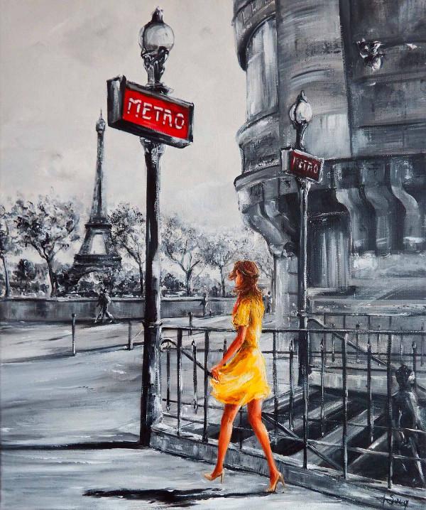 Métro et soleil à Paris