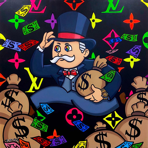 Rainbow Running Mr Monopoly