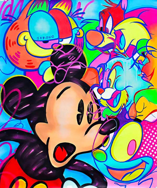 Mickey VS Cats