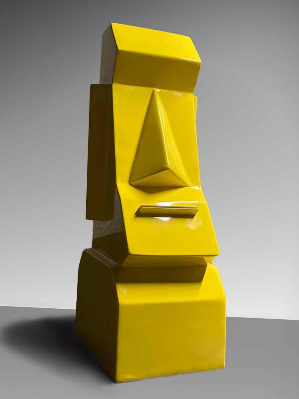 Moaï de l'Ile de Pâques jaune
