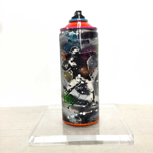 Spray can, flowers power
