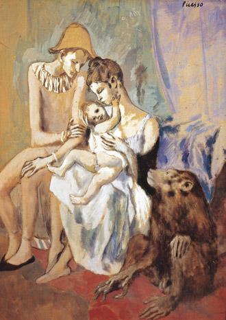 Picasso - Famille d'acrobates avec un singe 1905