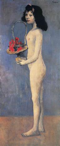 Picasso - Fillette à la corbeille fleurie, 1905